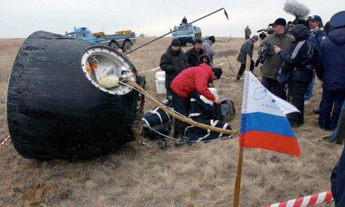 «Союз» успешно приземлился в Казахстане