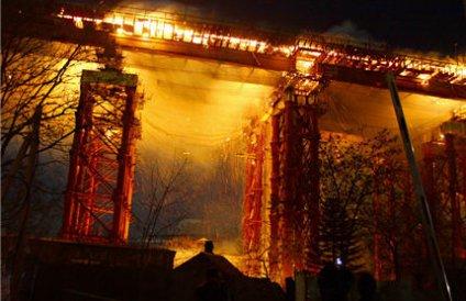 Ущерб от пожара на мосту через бухту Золотой Рог составил свыше 14 миллионов рублей