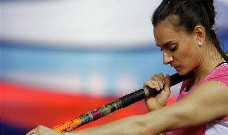 Елена Исинбаева победила в прыжках с шестом на турнире Гран-при ИААФ
