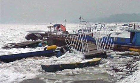 Ледоход на Дунае уничтожил около 100 маломерных судов
