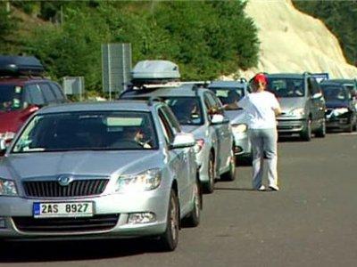 Многокилометровые пробки в Европе