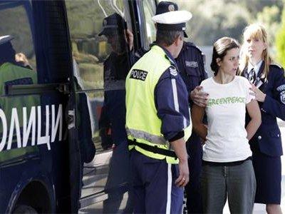 В Болгарии полиция задержала активистов экологической организации Гринпис