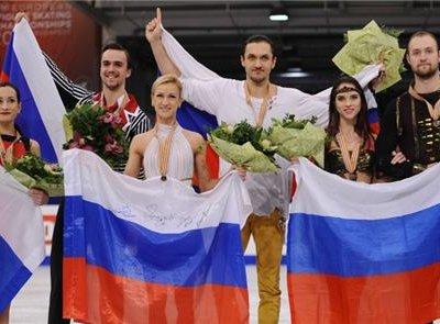 Весь пьедестал почета в соревнованиях спортивных пар заняли российские фигуристы