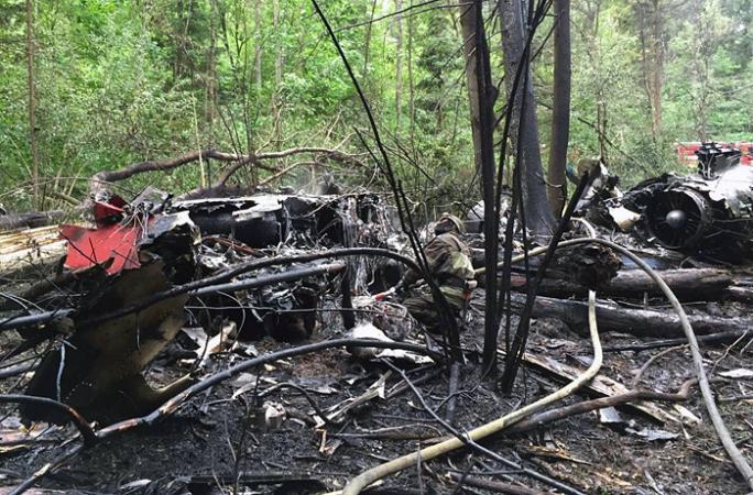 Найдены бортовые самописцы, разбившегося истребителя Су-27