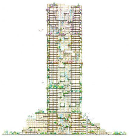 В Японии может появится самый высокий деревянный небоскреб